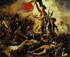 Liberty Leading the People, painting by Eugene Delacroix, 1830, oil on canvas, in Louvre, Paris, France