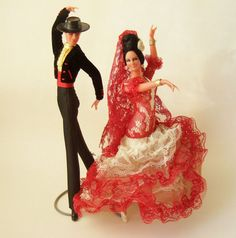 Kitsch Vintage Flamenco Dancers  Two Spanish by kitschandcurious
