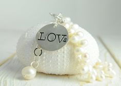 Valentine Jewelry Love Initial Charm by LillyputLaneDesignCo, $88.00