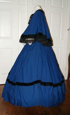 I D D Civil War Reenactment Dickens Faire Victorian Skirt Cape Sash Set in Stock