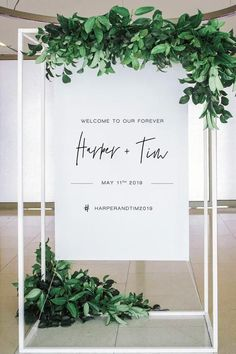 Minimalist welcome sign (DIY print) - wedding welcome, Wedding Planner Checklist, Wedding Planner Book, Wedding Planners, Wedding Welcome Signs, Wedding Signs, Diy Wedding, Wedding Events, Wedding Ideas, Wedding Styles