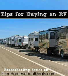 Roadschooling Series: Tips for Buying an RV