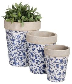 Esschert Design USA Aged Ceramic Round Nested Flowerpots Set of 3 ** Read more reviews of the product by visiting the link on the image.