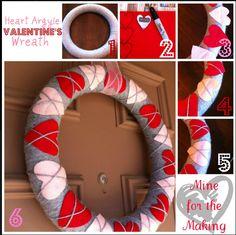 How To : Argyle Heart Wreath