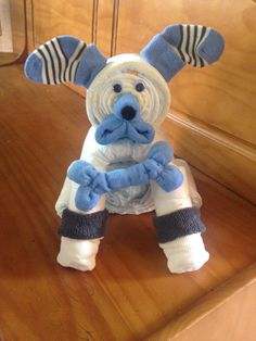Diaper Puppy Diaper Dog Baby Shower Centerpiece por JaideBearBabies