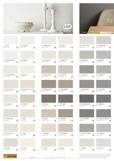 Jotun Paint Color Swatches have some pictures that related each other. Find out the most recent pictures of Jotun Paint Color Swatches here, and also you can find the picture […] Paint Color Chart, Wall Paint Colors, Paint Colors For Living Room, Paint Colors For Home, Room Colors, Home Wall Colour, Interior Wall Colors, Jotun Paint, Modern Kitchens
