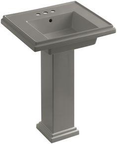 "Tresham 24"" Pedestal Bathroom Sink with 4"" Centerset Faucet Holes"