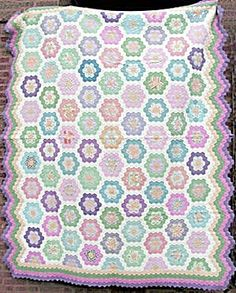 Vintage Grandma's Garden Quilt 1920's. Click on the image for more information.