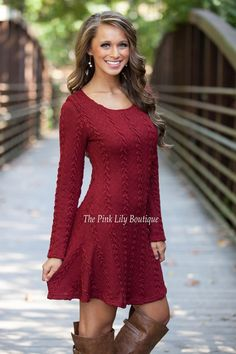Leave You Breathless Dress Wine - The Pink Lily Boutique