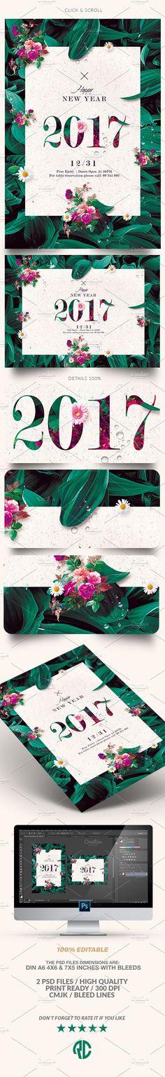 "I'm really liking ""New Year Invitation"" on @CreativeMarket ~ https://crmrkt.com/w04Aq - #newyear #nye2017 #invitation #template #flyer"