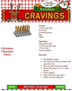 These CHRISTMAS CHOCOLATE STICKS make great treats for reindeer and elves of all ages. Warning: you better make a bunch.