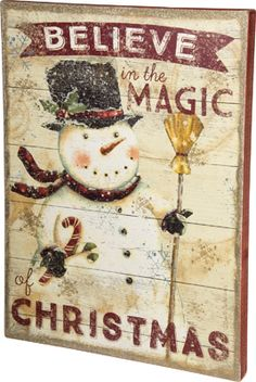 Item # 28767 | Box Sign - Magic of Christmas | Primitives by Kathy