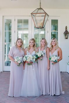 """From the editorial """"A Ballroom Reception Done Oh So Right at the Rosewood Miramar Beach.""""This classic, summer wedding is as dreamy as it gets and we're sharing all the details on stylemepretty.com!  LBB Photographer: @josevilla #bridesmaids #bridesmaiddresses #weddingdayphotos #weddingbouquets Beach Bridesmaid Dresses, Bridesmaid Bouquet, Wedding Dresses, Bridesmaids, Summer Wedding, Dream Wedding, Wedding Day, Garden Wedding, Miramar Beach"""