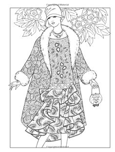 Amazon.com: Creative Haven Jazz Age Fashions Coloring Book (Adult Coloring) (0800759810499): Ming-Ju Sun: Books