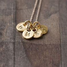 burnish initial necklace