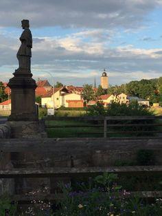 Blick auf Ebern in Franken