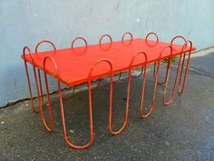 """Jean Royere Rare Documented Red Lacquered Model """"Vague"""" Coffee Table image 2"""