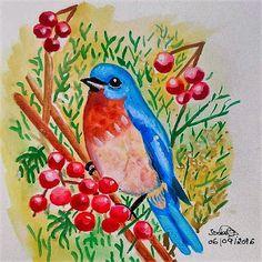 GALERIA DE PINTURAS: Adoro pintar pássaros...