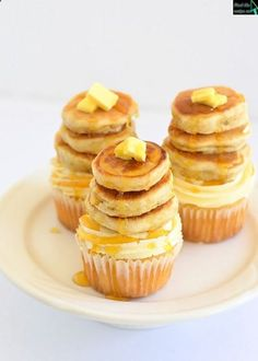 Maple cupcakes with Pecan butter cream and butter milk pancakes.