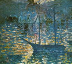 Boat, circa 1918 - Salvador Dali (oil)  Reminds me a lot of Tangled, and not at all of Salvador Dali....