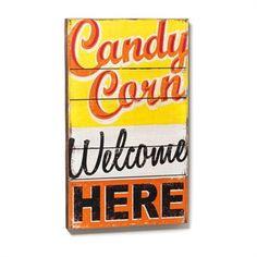 Demdaco Candy Corn Wall Art | from Von Maur #VonMaur #FallDecor #Halloween