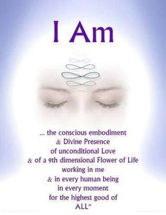 (((♥))) I am the Conscious embodiment Divine Presence of unconditional Love of a dimensional Flower of Life working in me in every human BeIng in every moment for the Highest Good of ALL . Awakening Quotes, Spiritual Awakening, Spiritual Enlightenment, Higher Consciousness, After Life, Mind Body Spirit, Spiritual Wisdom, Flower Of Life, Positive Affirmations