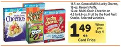[Tom Thumb] Cereal As Low As 74¢ Per Box.  See more #freebies, #deals and #coupons at threeinthefamily.com