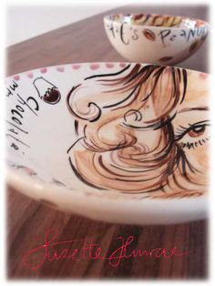 BonBon Bowls handpainted by SuzetteHuwae  Original Ceramics for sale in the SH Webshop.