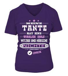 TANTE-WITZIGE UND HÜBSCHE NICHTE  #birthday #october #shirt #gift #ideas #photo #image #gift #costume #crazy #nephew #niece