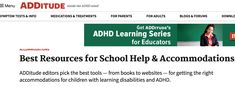 ADDitude editors pick the best tools — from books to websites — for getting the right accommodations for children with learning disabilities and ADHD. Inclusive Education, Inclusion Classroom, Learning Disabilities, Mindfulness, Medical, School, Children, Books, Young Children