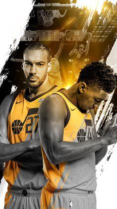 Utah Jazz – Rudy Gobert and Donovan Mitchell Jazz Basketball, Basketball Leagues, Basketball Legends, Basketball Players, Kyrie Irving Logo Wallpaper, Nba Background, Rudy Gobert, Donovan Mitchell, Nba League