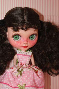 Customized Blythe Doll Custom Blythe Doll Blythe Carved Face Blythe Blythe Clothes Pink Dress Blythe Faceup Blythe OOAK Blythe For Sale