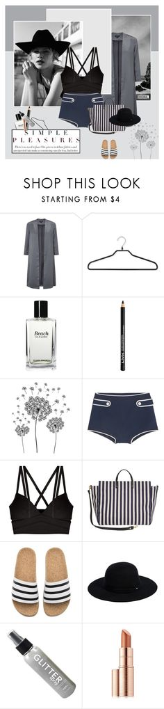 """Love the feeling"" by stephaniee90 ❤ liked on Polyvore featuring Miss Selfridge, PERIGOT, Bobbi Brown Cosmetics, NYX, jcp, Miu Miu, Cosabella, Clare V., adidas and Siggi"