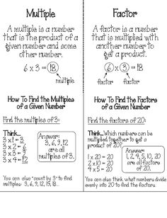 math worksheet : 1000 ideas about factors and multiples on pinterest  greatest  : Worksheet On Factors And Multiples