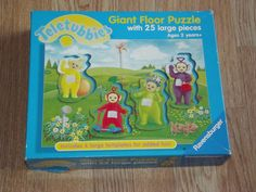 Vintage Teletubbies Giant Floor Puzzle by BeautifulVintageBits