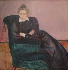 'Marie Helene Holmboe' by Edvard Munch, Bergen Kunstmuseum - paintings by Edvard Munch - Wikimedia Commons Edvard Munch, List Of Paintings, Landscape Sketch, Bergen, Wikimedia Commons, History, Artist, Self Portraits, Oil On Canvas