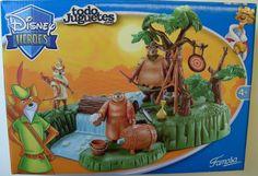 Disney Heroes Robin Hood Playset by Famosa Brian Bedford, Robin Hood 1973, Help The Poor, Disney Toys, Peter Pan, Making Out, Fandom, Painting, Vintage