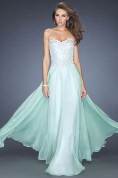 2014 Sweetheart A Line Prom Dress Appliqued Bodice Shirred Chiffon Skirt