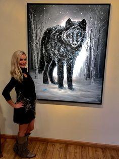"NEW Original Painting ""Winter is Coming"" available at Aspen Grove Fine Art in Aspen, Colorado! Aspen Colorado, Cow Art, Colorful Animals, Wildlife Art, Winter Is Coming, Park City, Galleries, Fine Art Prints, Moose Art"