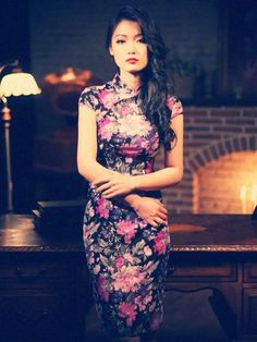 retro Chinese style Chi-Pao dress