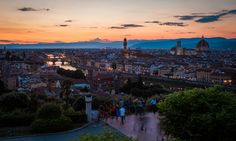 Piazzale Michelangelo is one of the best and most famous lookouts for a stunning view of Florence, day or night,