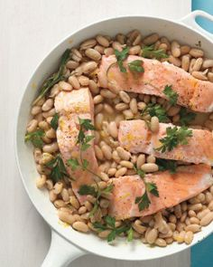 Salmon with White Beans Recipe