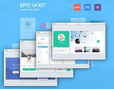 Epic UI Kit + Bootstrap Theme by EpicShop on @creativemarket #webdesign #design #ui