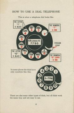 how to use a dial telephone