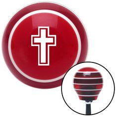 White Christian Cross Red Stripe Shift Knob with M16 x 15 Insert - Give your interior the ultimate look. American Shifter's Elite(TM) series shift knobs are made from the highest quality components resulting in a superior feel on every shift. Each shift knob is designed and customized in the USA by skilled shift knob artisans who have a trained eye on every detail. American Shifters shift knobs offers an exclusive aluminum threaded insert designed to be screwed onto your shift arm. You…