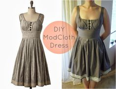 Create / Enjoy: Made my own Mod Cloth dress I'd have to lengthen it but this looks comfortable.