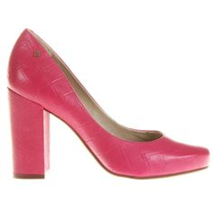 Scarpin Capodarte Monograma Salto Grosso Pink   Zattini - A nova loja de moda online da Netshoes