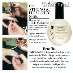 Get strong & healthy nails when using CND SolarOil. Today's #LjicTuesTorial is by Myranda A. & Sydney H. from #LJIC - Cedar Rapids. They show us not only how to use the product but also it's benefits. Stop by LJIC to pick up your very own CND SolarOil Today! LIKE: www.facebook.com/lajamesinternational
