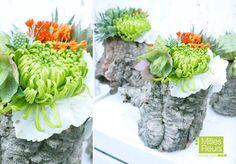 #Messe #Counter #Dekoration #Lotos #Mohn #Greens # Korkweide # Amaranthus #Centerpiece #Asclepia #Natur #Nature #Hortensie