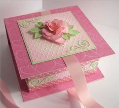 magic boxes: Origami Box; 'New Technique Challenge' on Splitcoast stampers. The box is constructed using an origami fold - no glue - so clever!!! The wrap round lid is glued.   Here's the link: http://www.splitcoaststampers.com/forums/showthread.php?t=410418